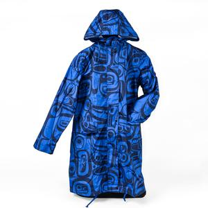 Kelly Robinson Raven Transforming Rain Coat (Dark Blue, Large/XLarge)