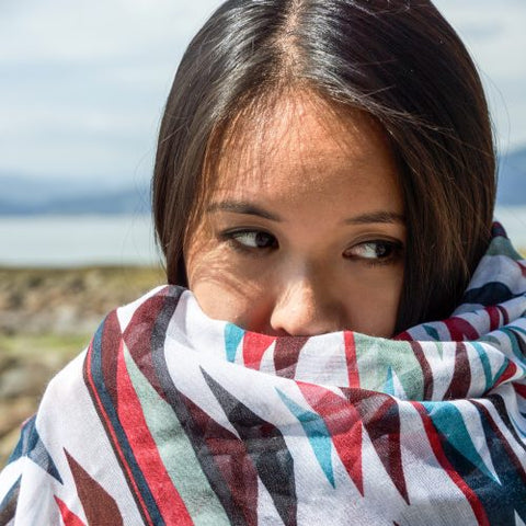 "Patterns of Life"" Voile Scarves"