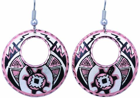 Native Turtle dangle earrings.