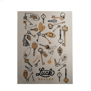 luck dallas poster with scatter keys design