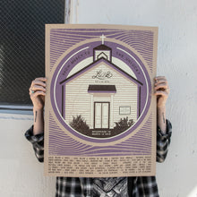 Load image into Gallery viewer, person holding screen printed luck reunion poster from 2019