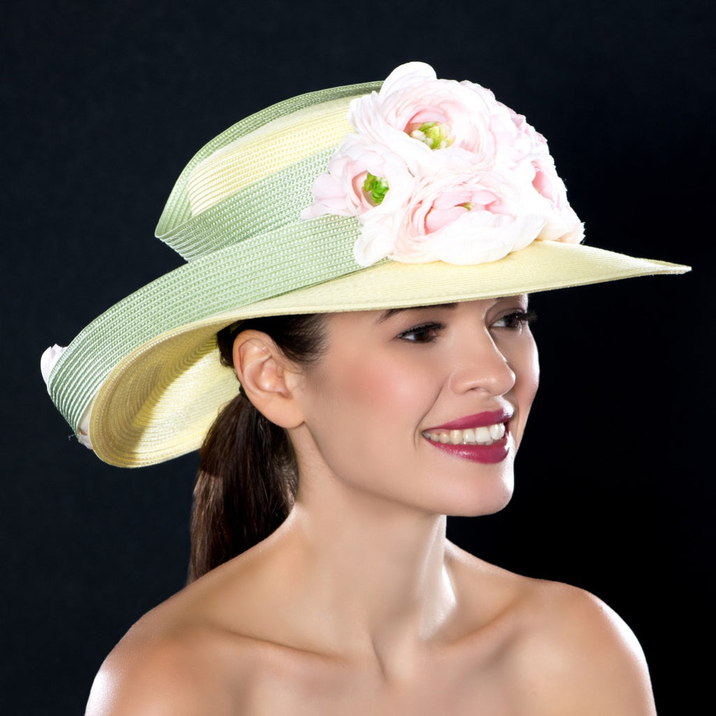 Women's church wide brim hats