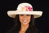 SE7005- Summer women straw hat With Assorted Flowers - SHENOR COLLECTIONS