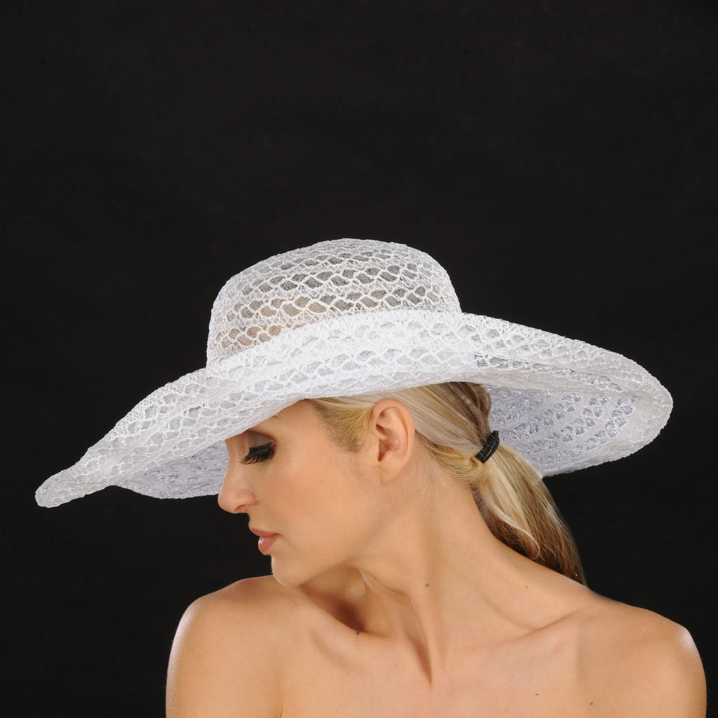 SS1006- Ladies sun beach hat - SHENOR COLLECTIONS