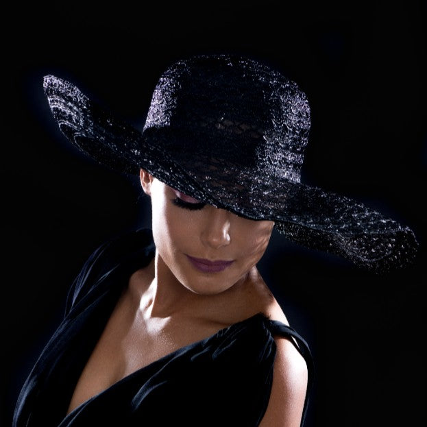 BW6507- Classy wide brim ladies dress hat