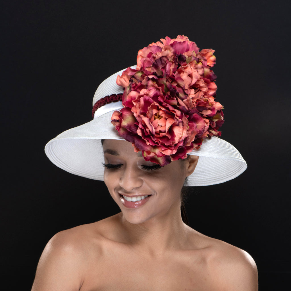 NA0049-White ladies church hat