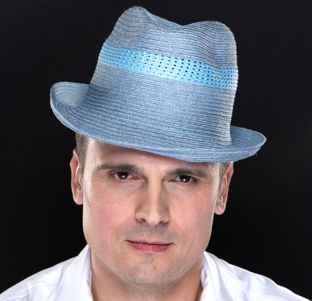 M1705- Blue fedora for men