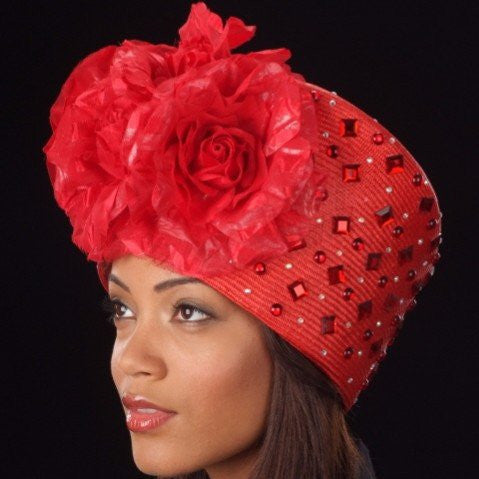 OE8007 First lady church hat - SHENOR COLLECTIONS