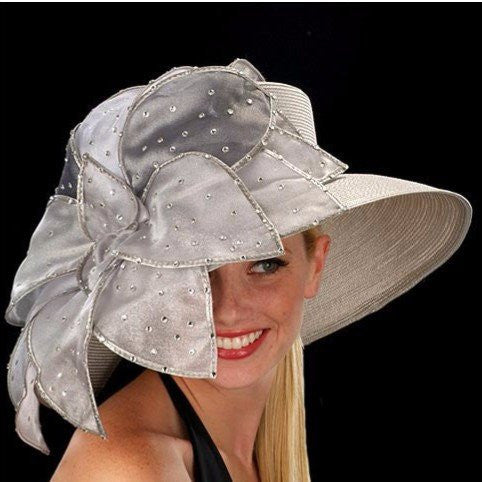SG0018-Elegant ladies church designer hat - SHENOR COLLECTIONS
