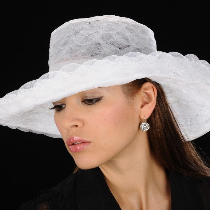 UF6025- White horse hair dress hat