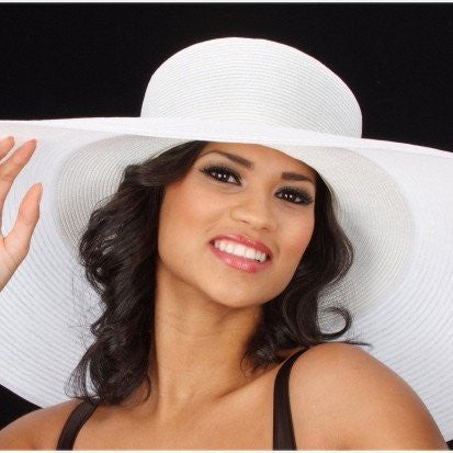 SS1003-Women wide brim  hat beach - SHENOR COLLECTIONS