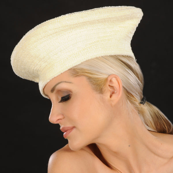 FW1141- Ladies Ivory Cream Winter Hats - SHENOR COLLECTIONS