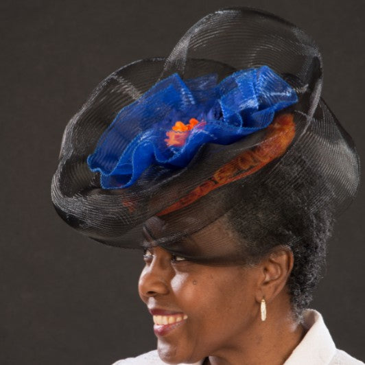 F6036-Ladies horse hair fascinator - SHENOR COLLECTIONS