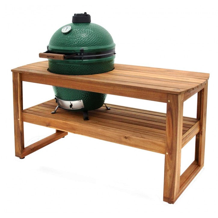 Acacia Hardwood Table for XL EGG (61inLx32inWx31inH)                               (Casters optional - not included )