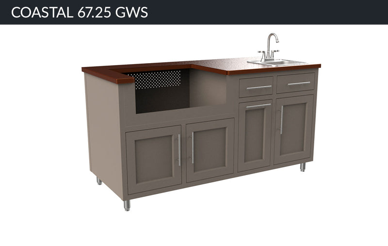 "COASTAL ISLAND 67.25"" WITH SINK"