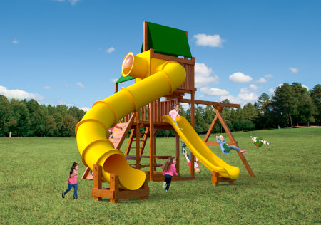 Playhouse 6 w/ Enclosed Tube Slide #PH.6D