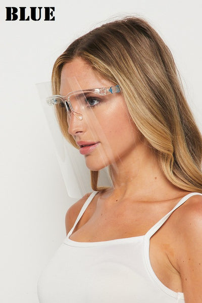 Acrylic Face Shield w/ Glasses