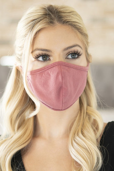 Cotton Face Mask - Marsala