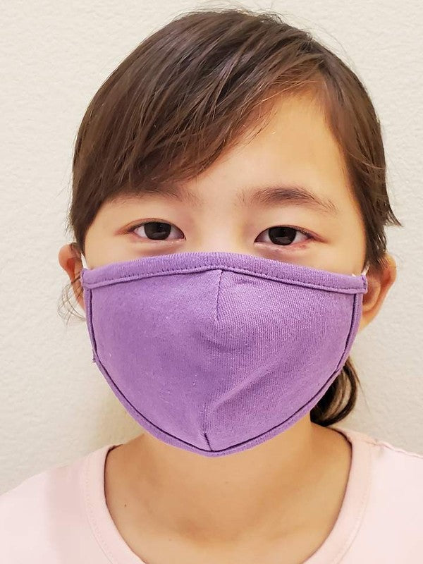 Children's Cotton Face Mask - Orchid Purple