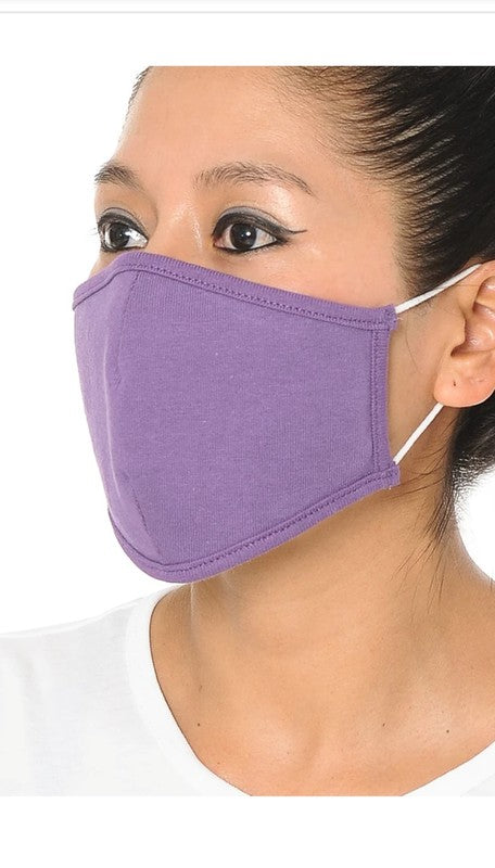 Cotton Face Mask - Orchid Purple