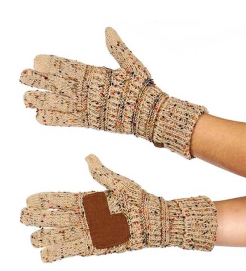 CC Confetti Gloves - Latte