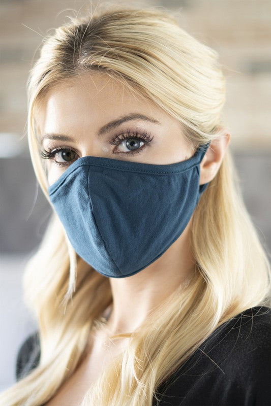 Cotton Face Mask - Teal
