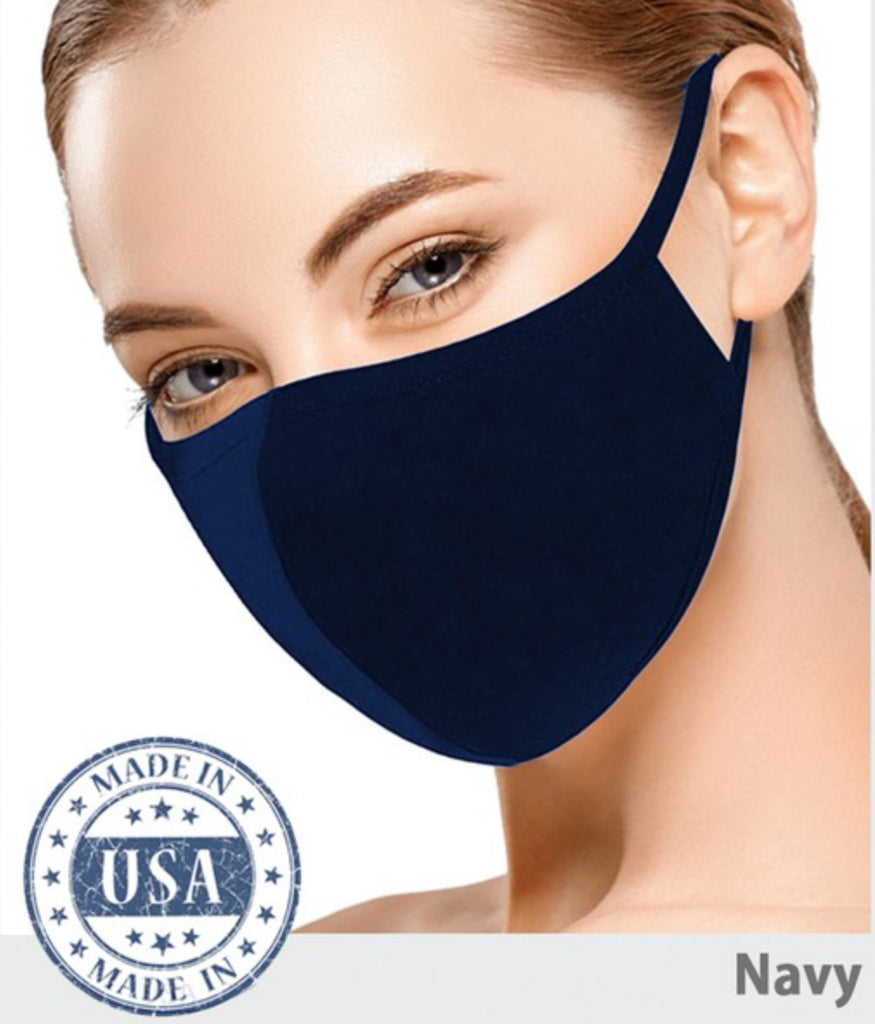 Cotton Face Mask - Navy