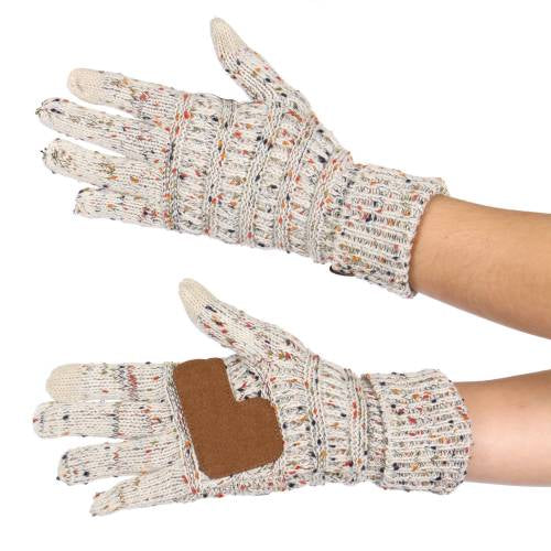 CC Knit Confetti Gloves - Oatmeal