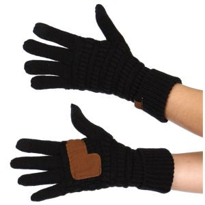 CC Knit Gloves - Black