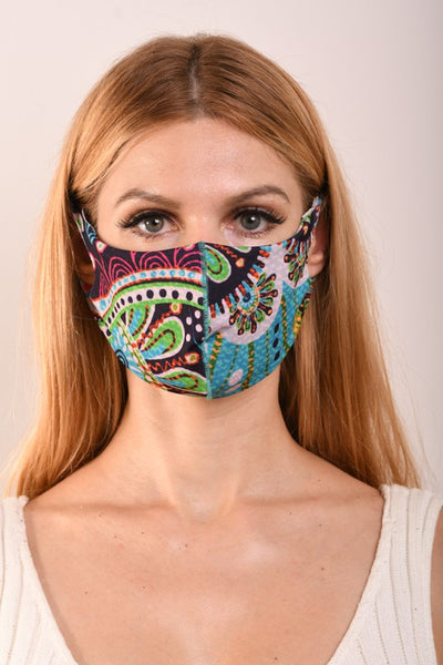 Bohemian Face Mask - Multi