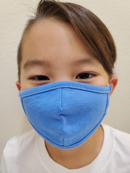 Children's Cotton Face Mask - Pacific Blue