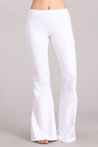 Bell Bottom Pants - White