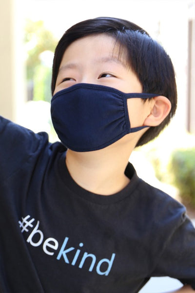 Children's Cotton Face Mask - Navy