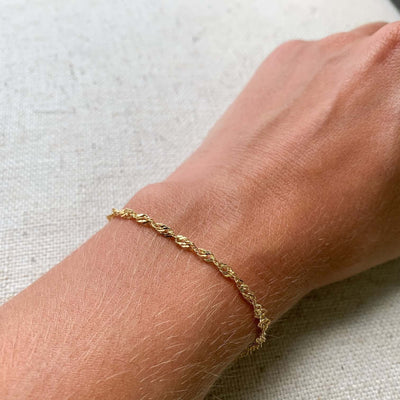 14k gold singapore chain bracelet elegant classic kemmi collection jewelry