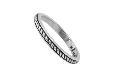 women's stackable dainty silver ring handmade boho chic style jewellery kemmi collection