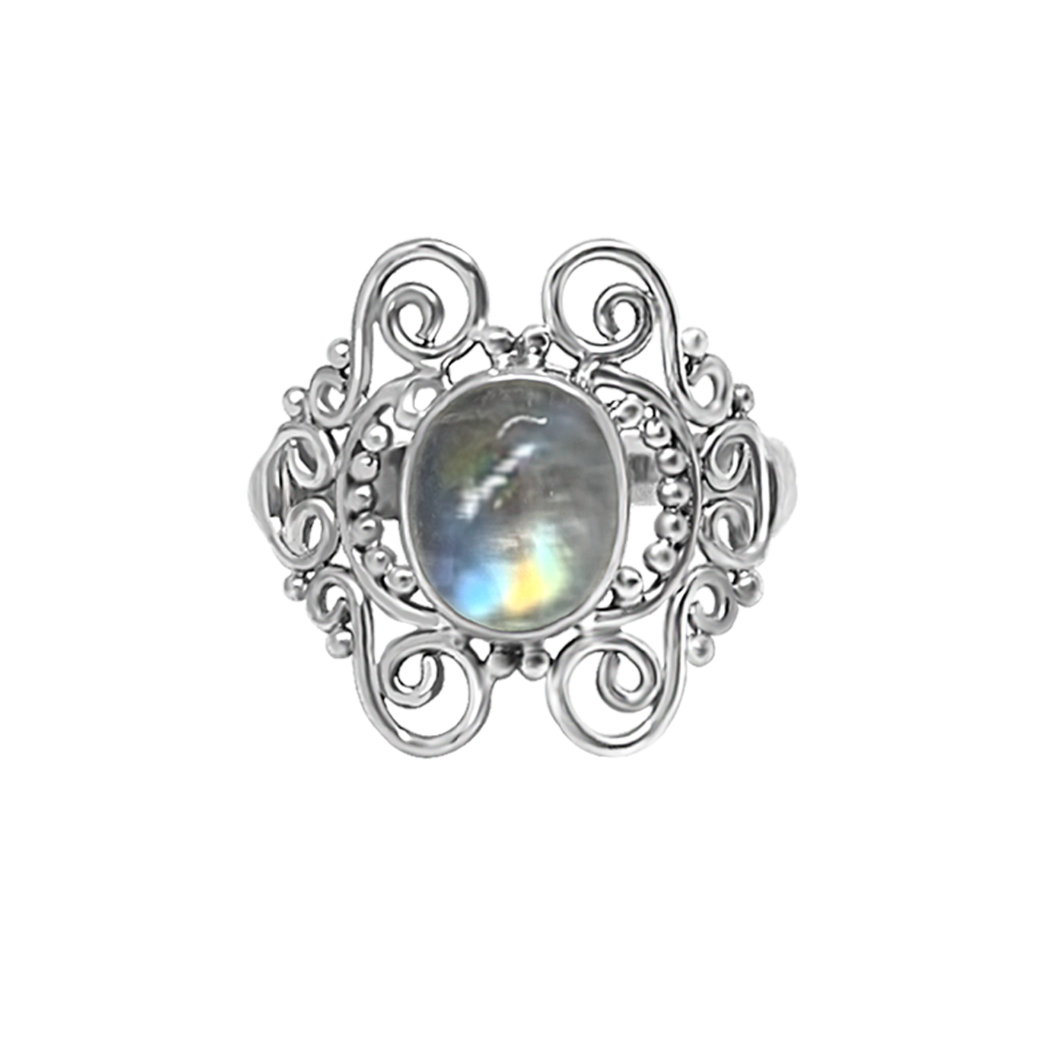 handmade sterling silver ring moonstone bohemian jewelry kemmi collection