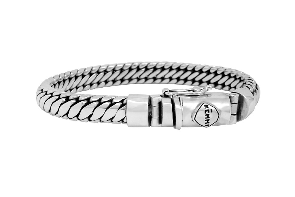 men's sterling silver bracelet modern classic handmade accessory kemmi collection