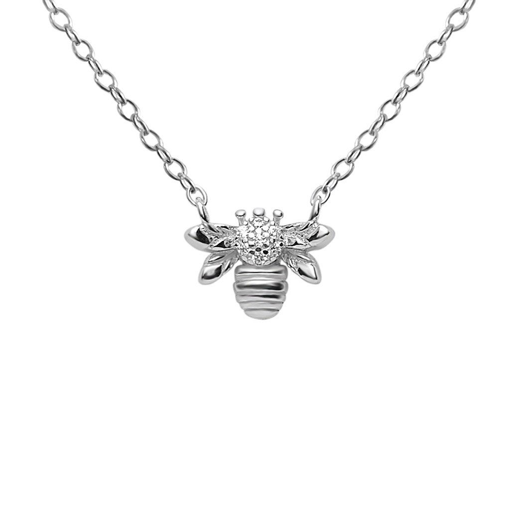 sterling silver bee pendant necklace chain jewelry kemmi collection boho chic