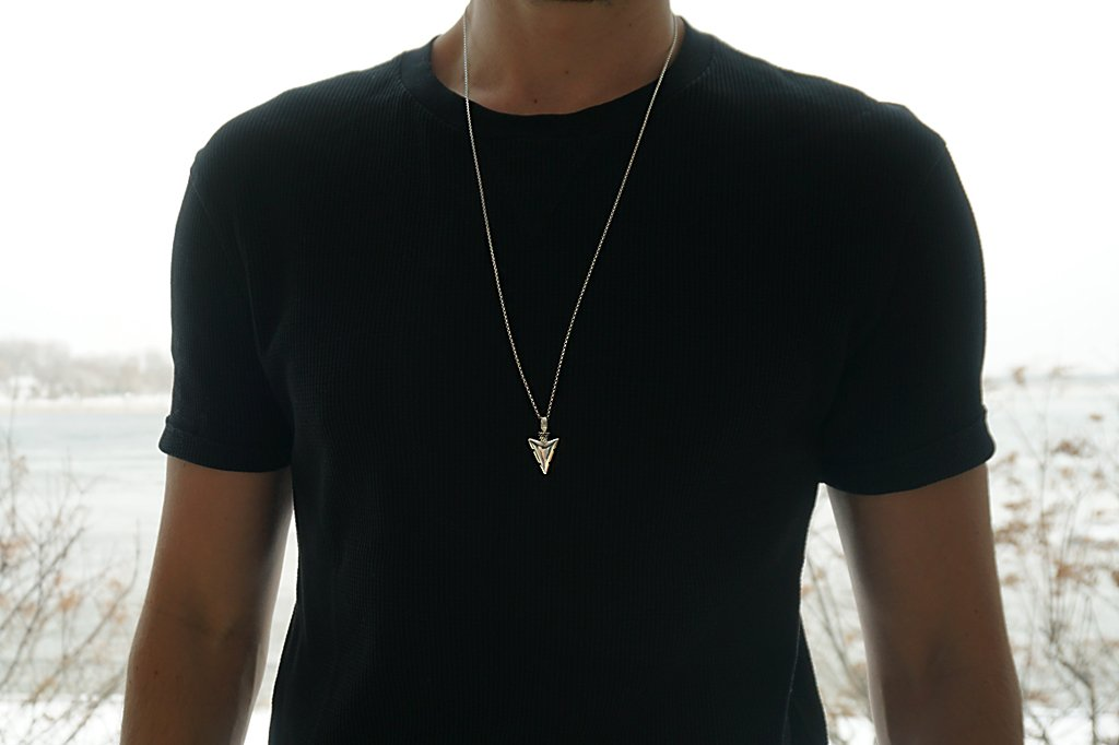 Men's arrow head silver pendant modern style accessory jewelry Kemmi Collection