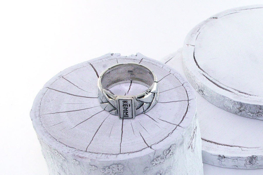 Men's Sterling silver ring modern style fashion jewelry kemmi collection