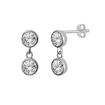 sterling silver cz drop stud earring style kemmi jewelry boho chic