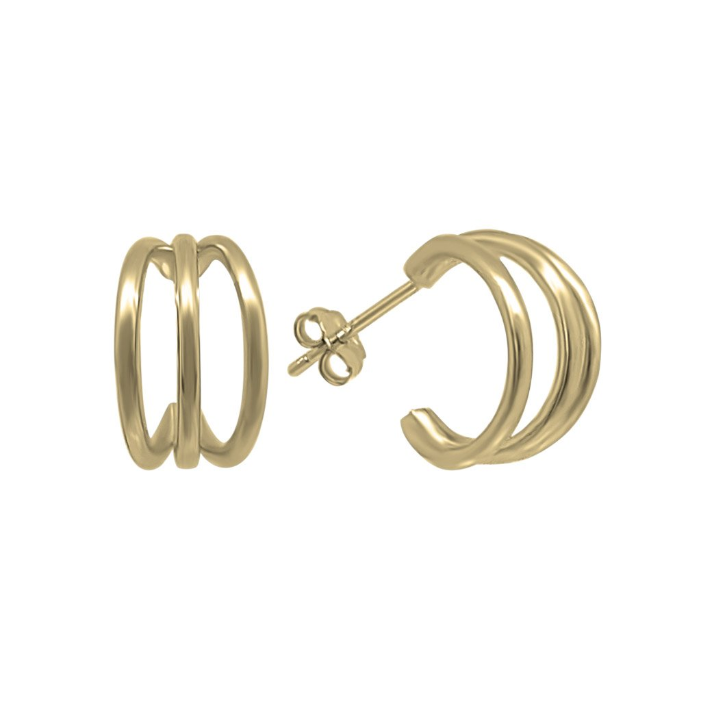 14k gold vermeil claw stud earrings kemmi collection jewelry hoop style