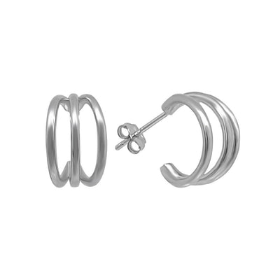 sterling silver claw stud earrings kemmi collection jewelry hoop style