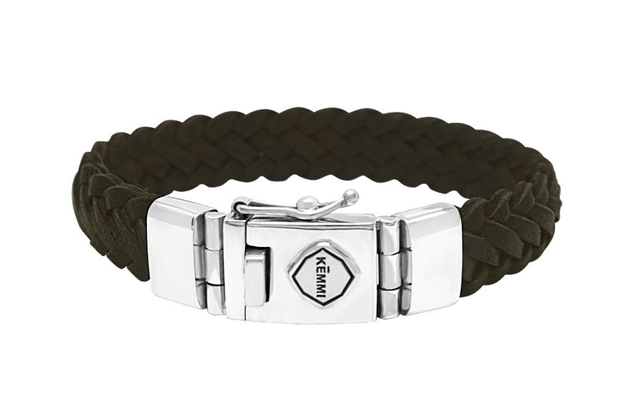 men's leather sterling silver bracelets modern contemporary jewelry style kemmi collection