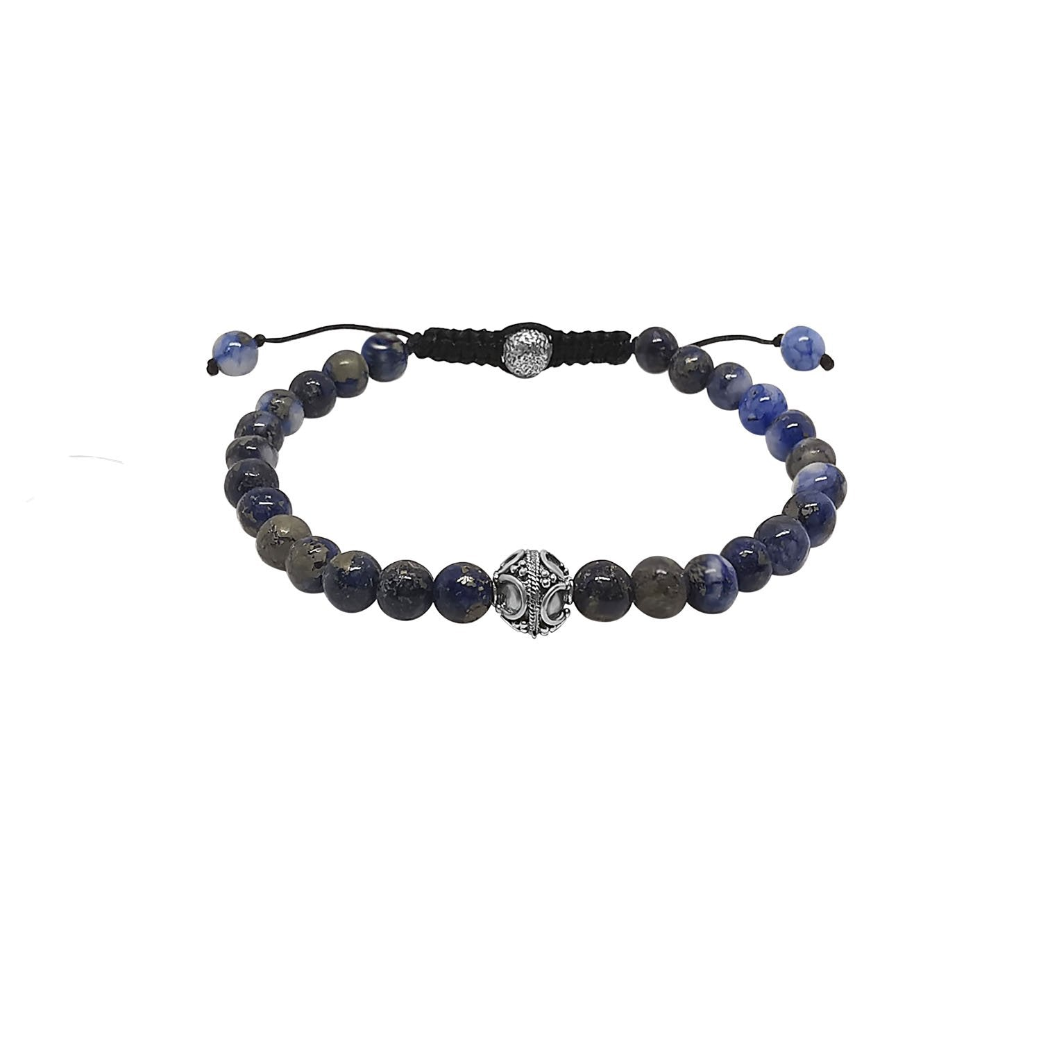 Men's Blue Lapis Bead Bracelet