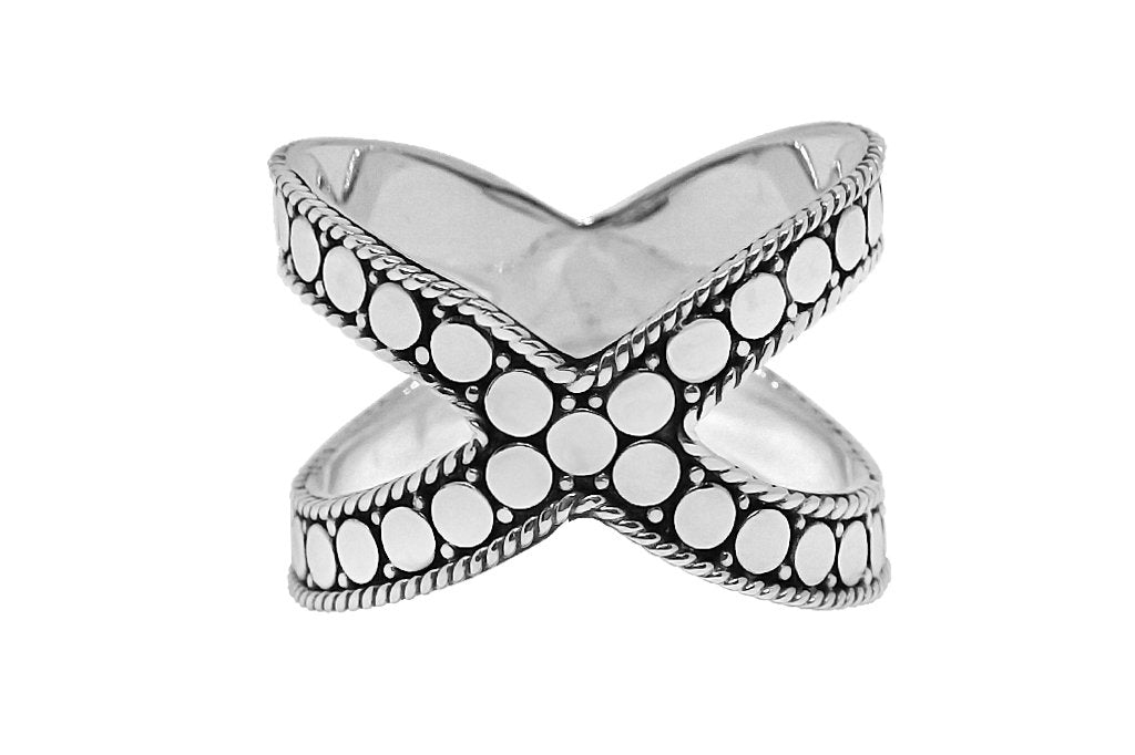 women's silver cross ring bohemian chic boho fashion handmade jewelry kemmi collection