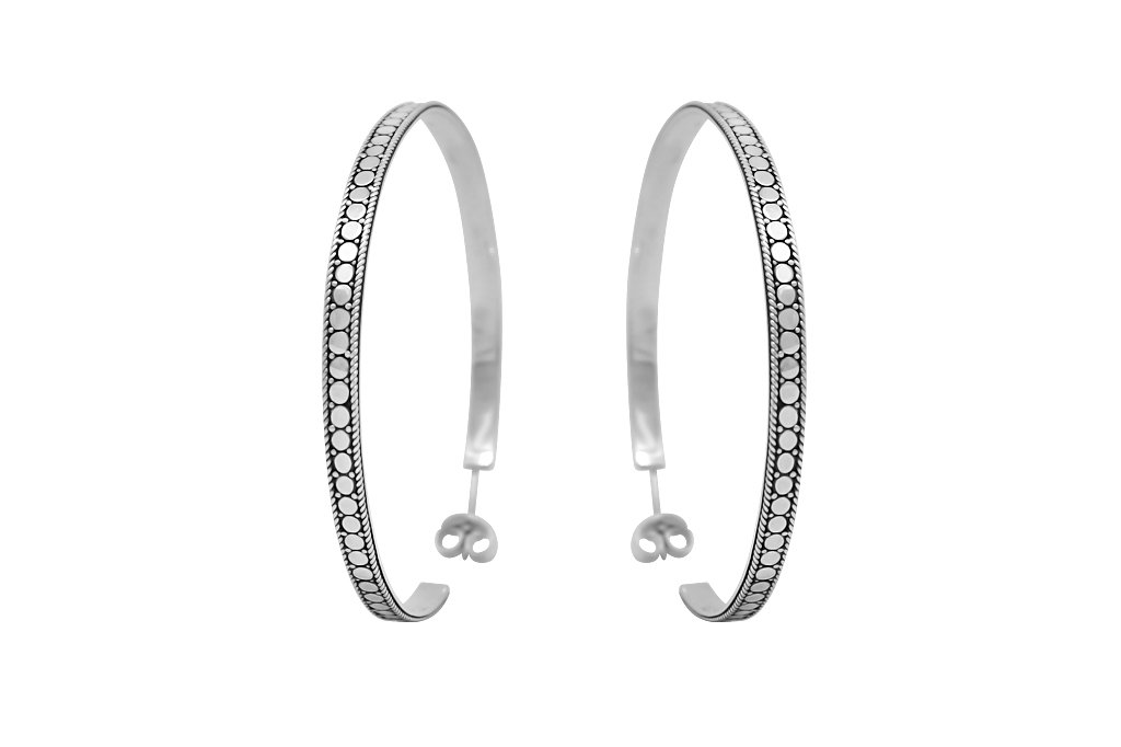 sterling silver earrings hoops handmade boho bohemian chic gypsy jewelry kemmi collection