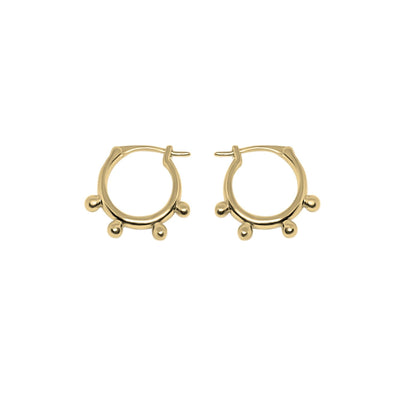 Dotted Hoops Earrings