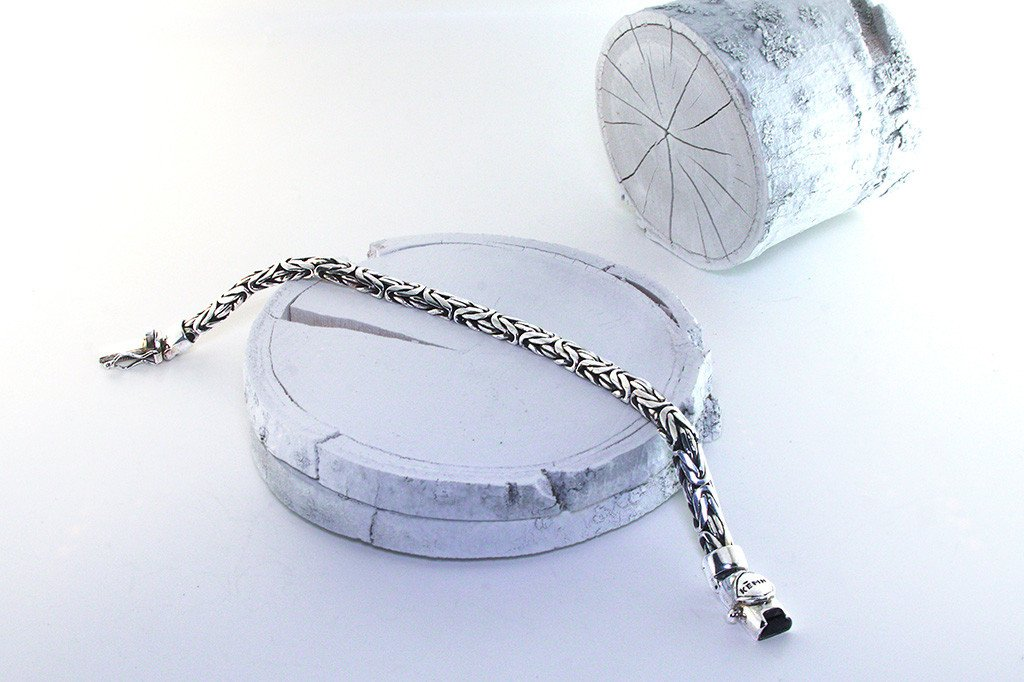 men's solid silver bracelet handmade modern style fashion accessory kemmi collection