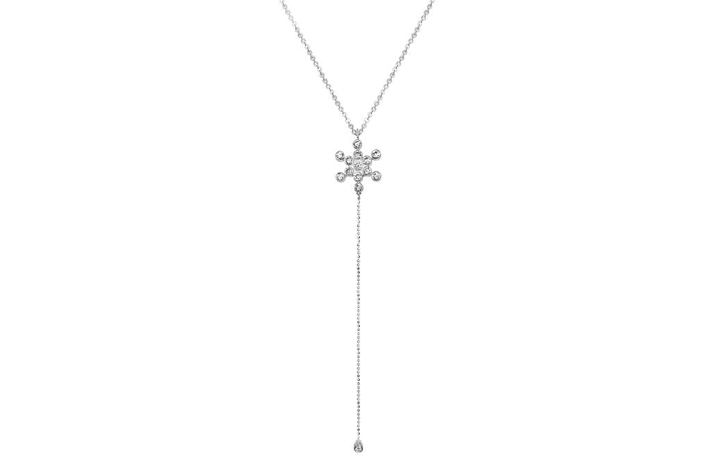 Silver Fruit of Life CZ Necklace